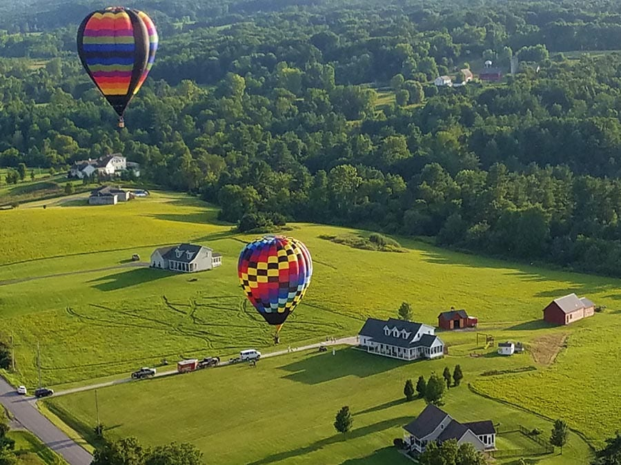 Hot Air Balloons Sailing in NY